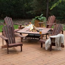 Patio Fire Pit with Chairs