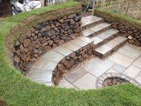 fire pit seating to make your outdoors cozy. semi circle ...