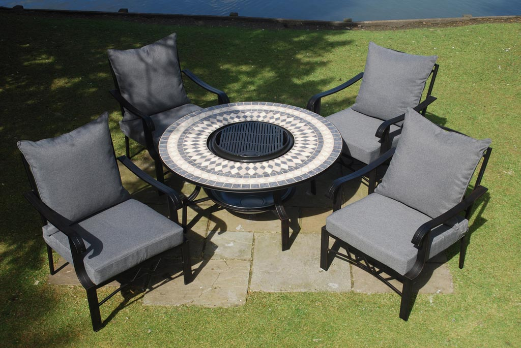Patio Furniture Set With Fire Pit