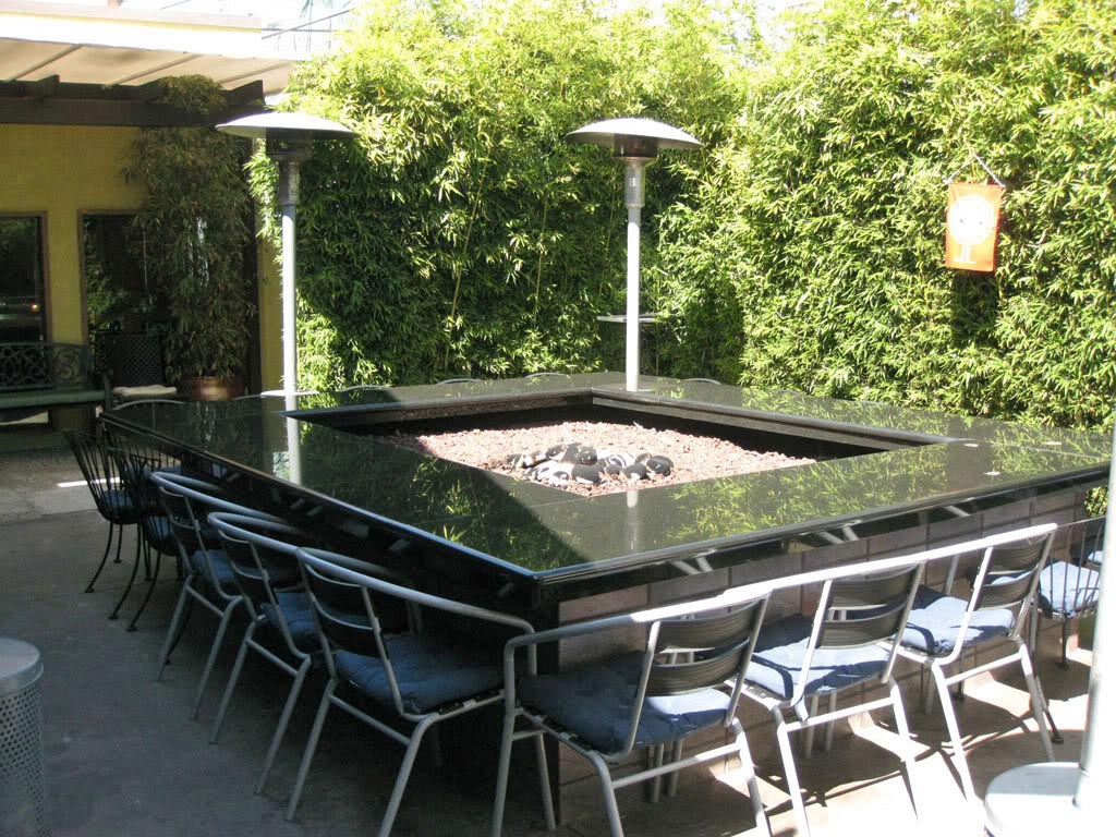 Patio Table With Fire Pit  Fire Pit Design Ideas