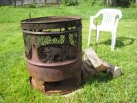 Steel Drum Fire Pit   Fire Pit Design Ideas