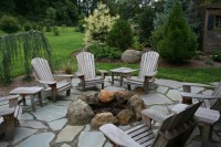 Stone Patio With Fire Pit | Fire Pit Design Ideas