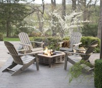 Adirondack Chairs Around Fire Pit