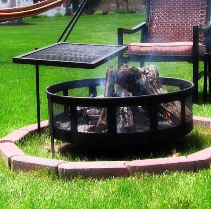 Adjustable Fire Pit Grill Grate