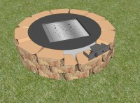 Diy Square Fire Pit. Diy Square Fire Pit Tutorial With Diy ...