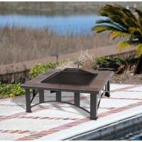 Ceramic Tile Fire Pit Table | Fire Pit Design Ideas