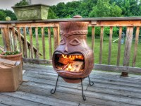 Clay Chiminea Fire Pit