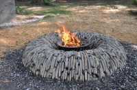 Homemade Stone Fire Pit | Fire Pit Design Ideas
