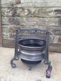 Old Tractor Rims Fire Pit | Fire Pit Design Ideas
