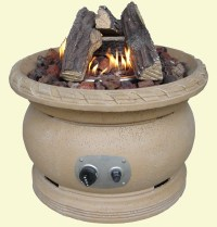 Outdoor Gas Fire Pit Ceramic Logs