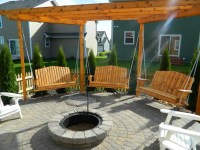 Porch Swings Around Fire Pit Image - pixelmari.com
