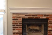 Brick Fireplace White Mantle