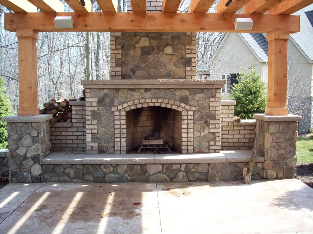 Brick Outdoor Fireplace Plans Free  Fireplace Designs