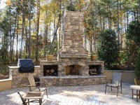 Brick Outdoor Fireplace Plans | Fireplace Designs