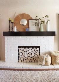 DIY Fake Fireplace Logs | Fireplace Designs