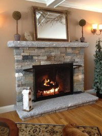 DIY Faux Stone Fireplace | Fireplace Designs