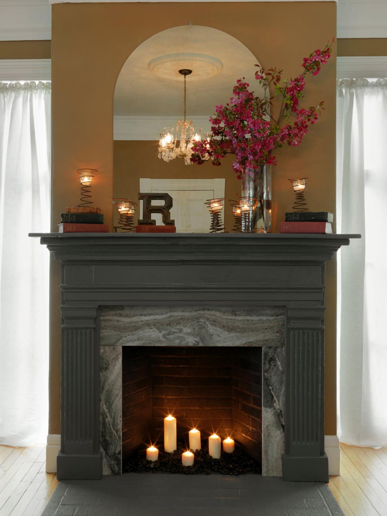 DIY Fireplace Mantel And Surround