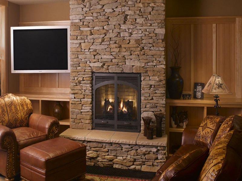 DIY Stone Fireplace Surround