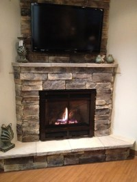 Electric Fireplace With Stone Mantel | Fireplace Designs