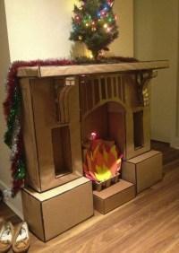 Fake Fireplace Mantel For Christmas