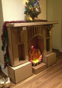 Fake Fireplace Mantel For Christmas   Fireplace Designs