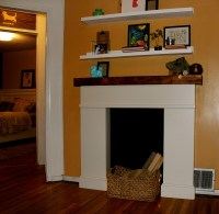Creative Ideas for Fake Fireplace Mantel | Fireplace Designs