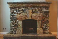 Fake Stone Fireplace Designs   Fireplace Designs