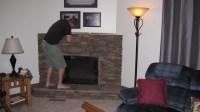 Fake Stone Fireplace Surround