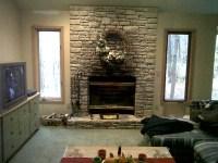 Faux Stone Fireplace Mantel