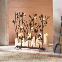 Fireplace Screens With Candle Holders | Fireplace Designs