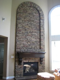 Fireplace With Stone Veneer | Fireplace Designs