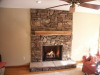 Gas Fireplace Mantels With TV Above | Fireplace Designs