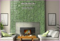 Glass Tile Fireplace Surround | Fireplace Designs