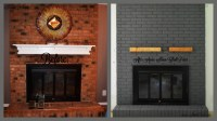 Brick Fireplace Paint and Makeover Ideas   Fireplace Designs