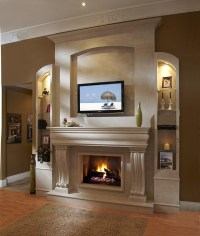 The Modern Stone Fireplace is the Champion in Creating