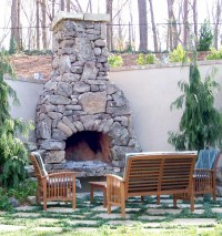 Natural Stone Outdoor Fireplace | Fireplace Designs