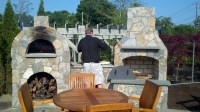 Outdoor Brick Fireplace With Oven | Fireplace Designs