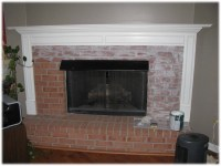 Painted Brick Fireplace Pictures | Fireplace Designs