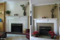 Painted White Brick Fireplace | Fireplace Designs