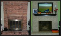 Painting Over Brick Fireplace   Fireplace Designs