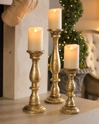 Pillar Candle Holders For Fireplace | Fireplace Designs