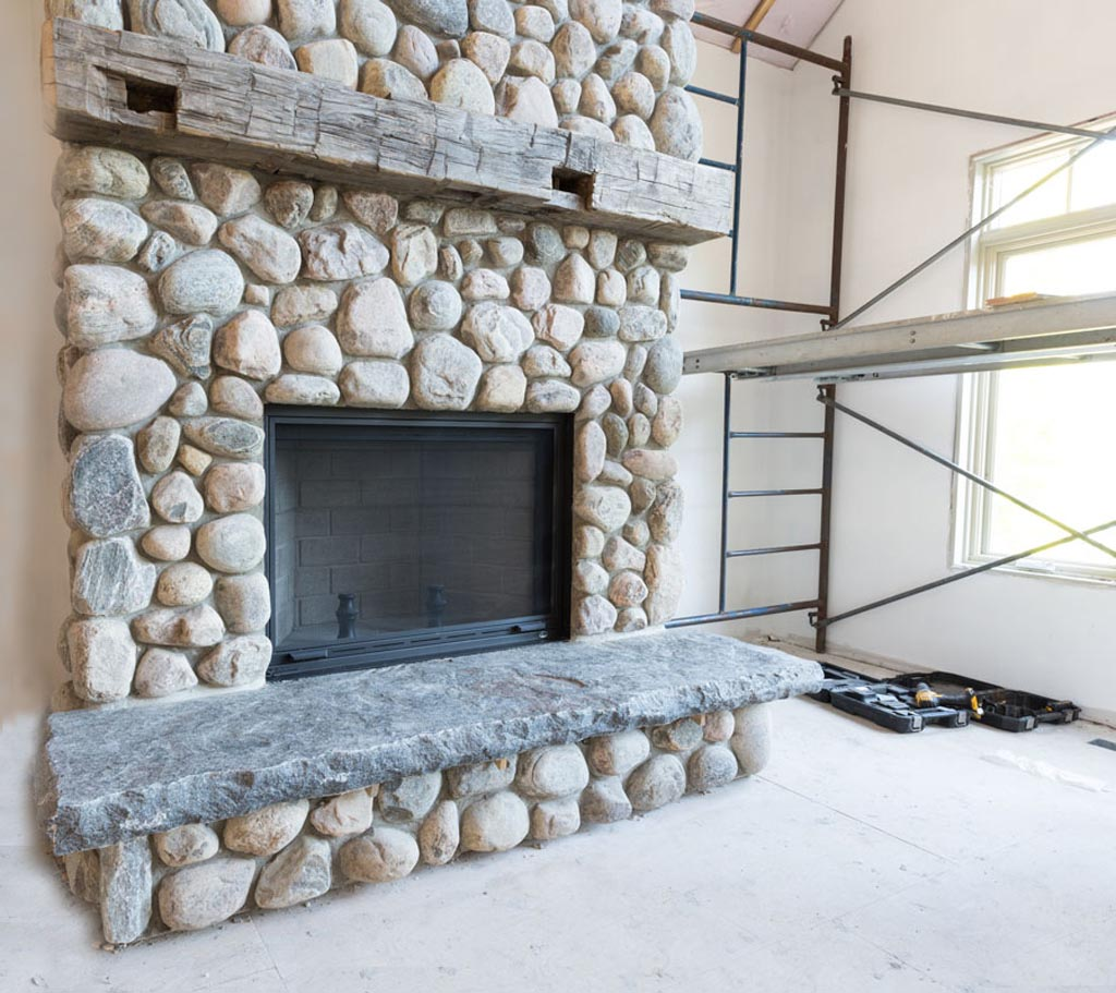 How To Make A River Rock Fireplace