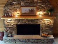 Stacked Slate Fireplace Surround | Fireplace Designs