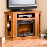 Stone Electric Fireplace TV Stand | Fireplace Designs