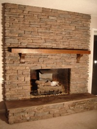 Stone Tile Fireplace Surround | Fireplace Designs