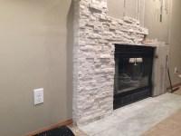 Stone Veneer Fireplace Installation | Fireplace Designs