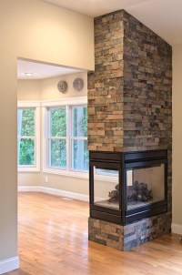 Three Sided Gas Fireplace | Fireplace Designs