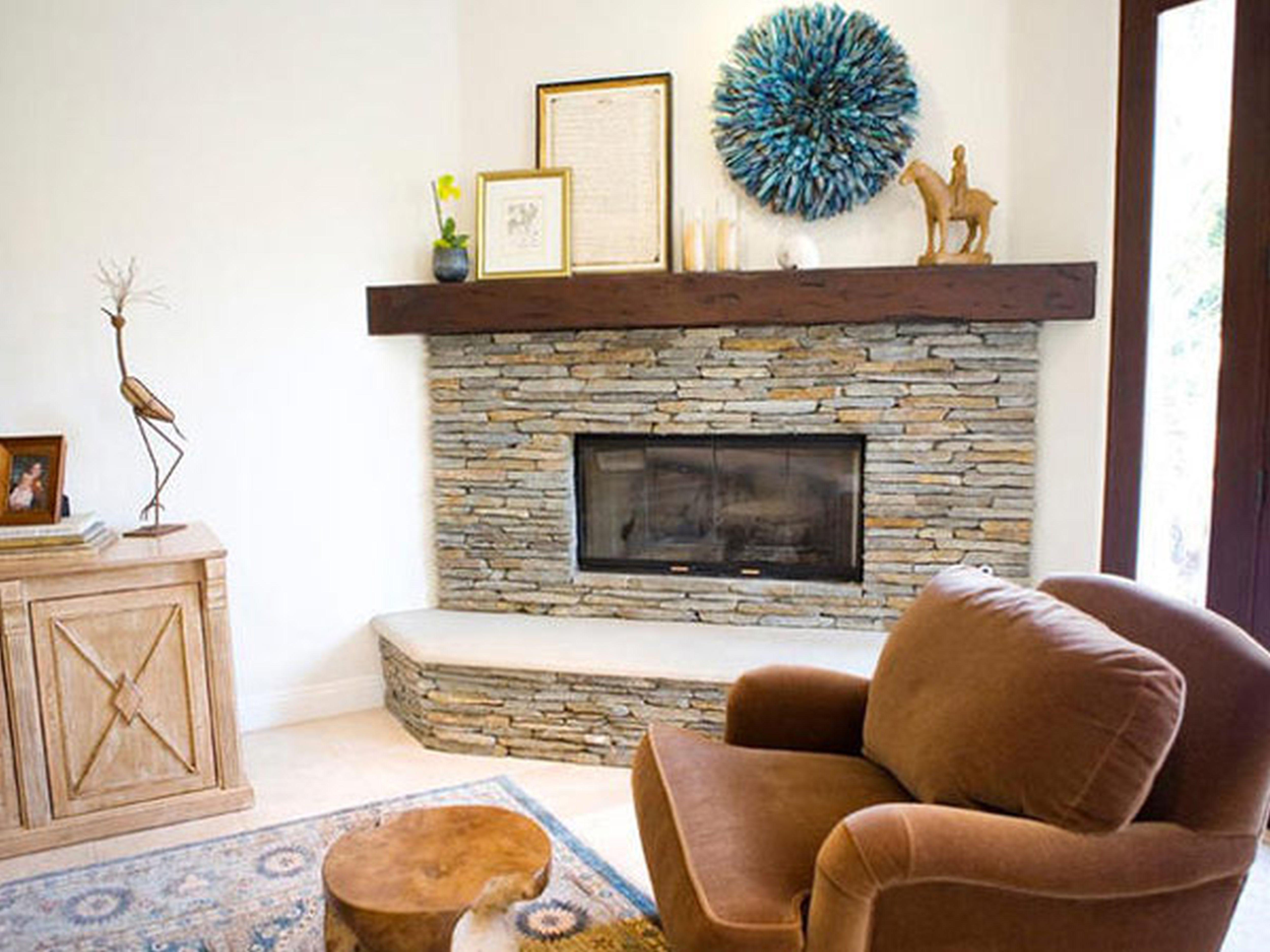 White Brick Fireplace Decorating Ideas Elitflat