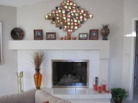 The gallery for --> Painted White Stone Fireplace