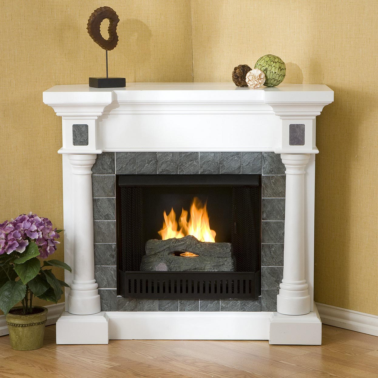 Stone Electric Fireplace Is A Really Good Alternative That
